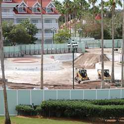 Grand Floridian Courtyard Pool refurbishment