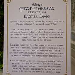 2014 Grand Floridian Resort Easter Eggs