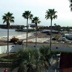 Grand Floridian pool construction photos
