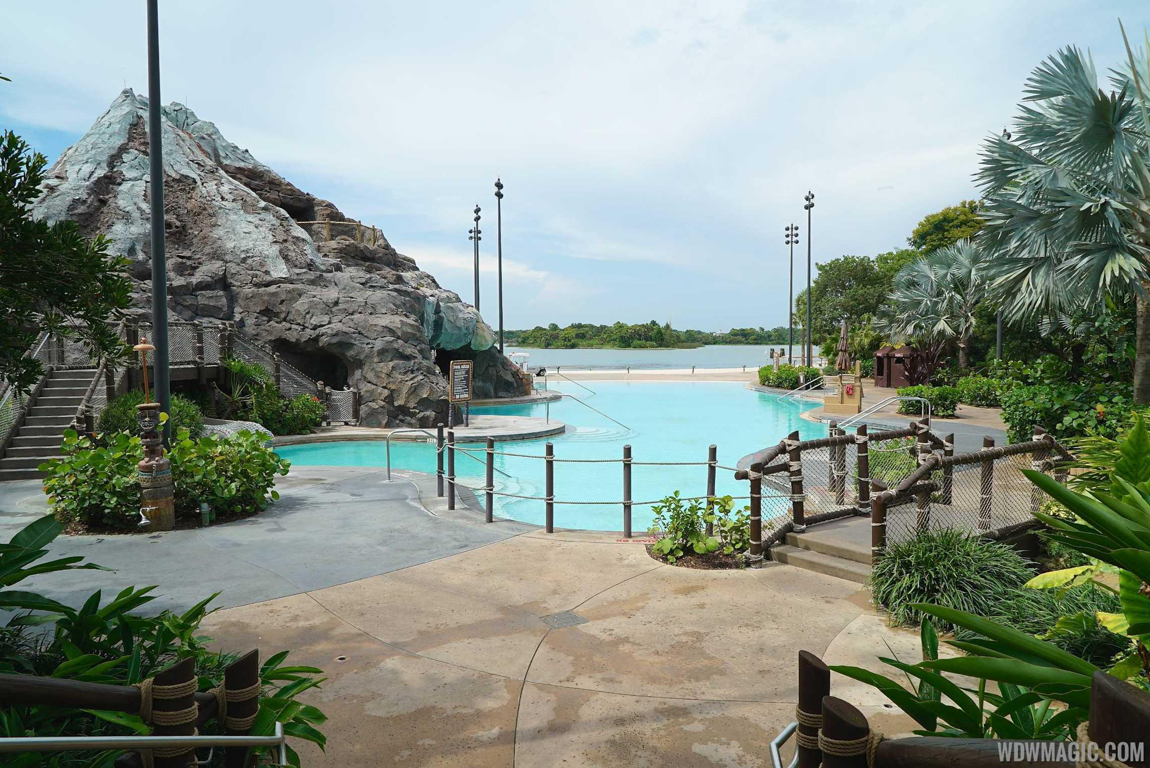 The closed Nanea Pool area