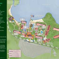 2014 Disney's Polynesian Village Resort guide map