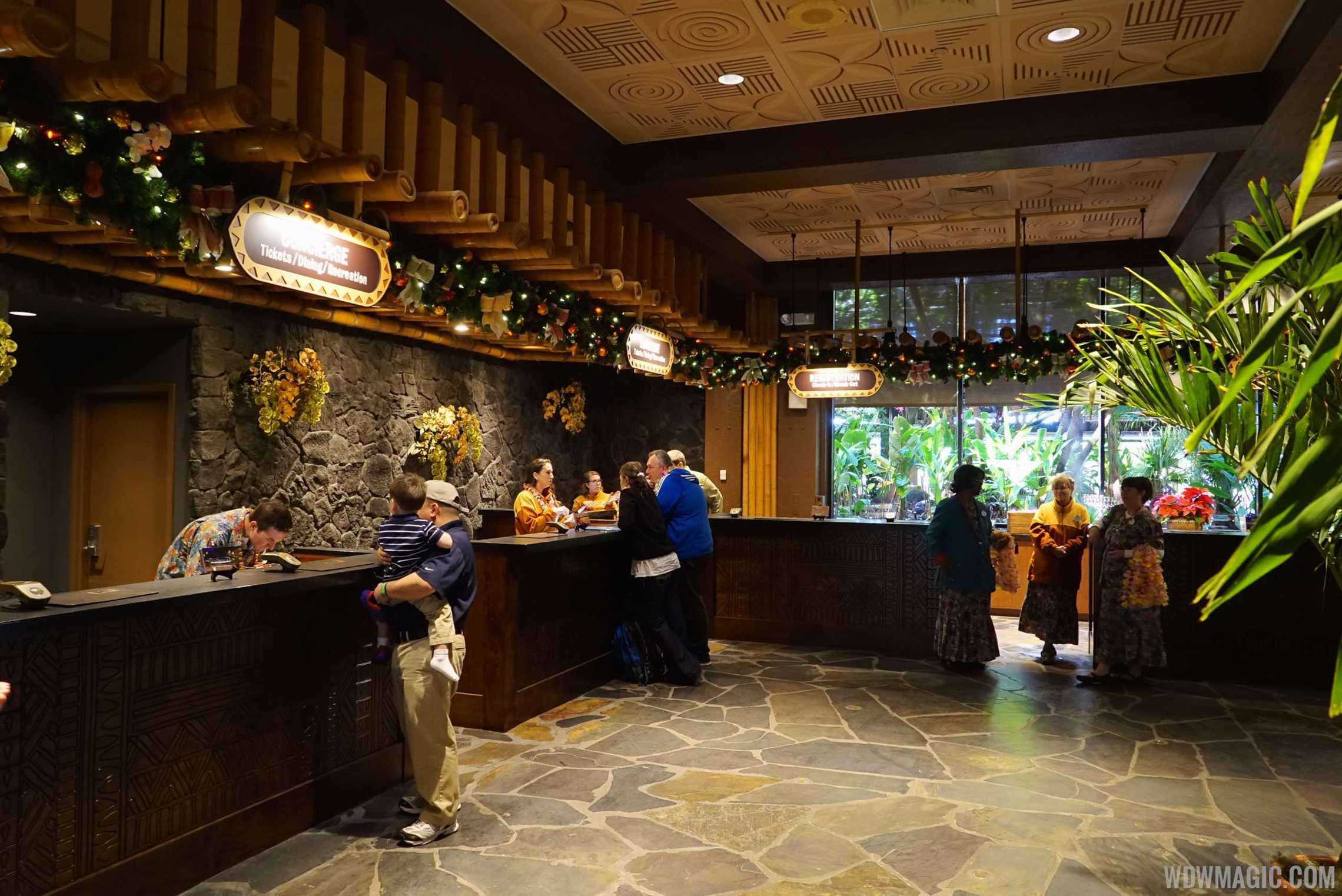 New Polynesian Resort check in desks