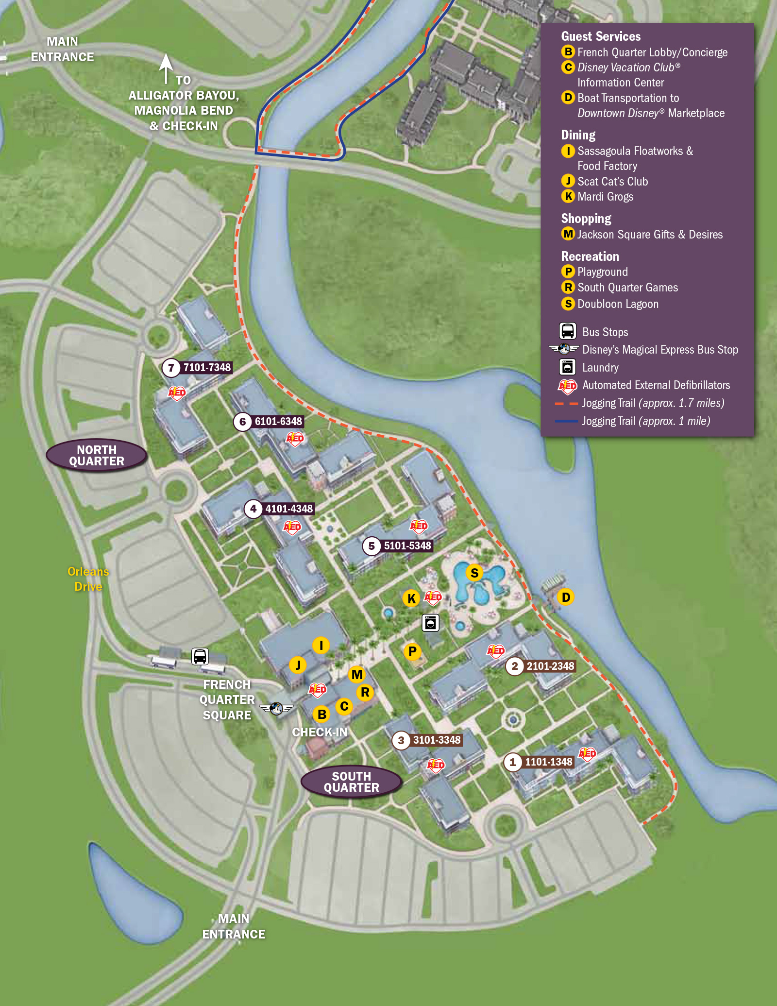 2013 Port Orleans French Quarter guide map Photo 1 of 2 – New Orleans French Quarter Tourist Map