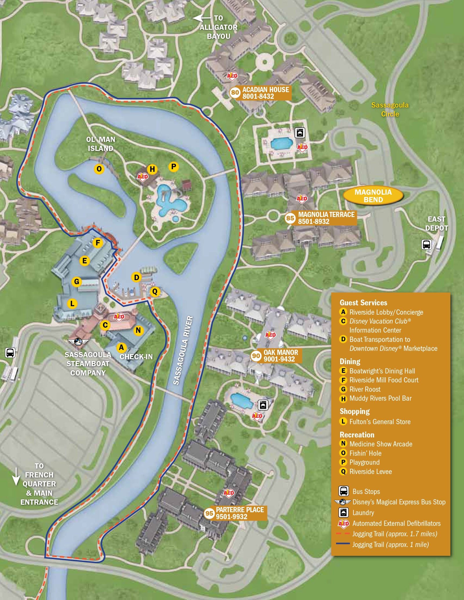 Port Orleans Riverside Guide Map Photo  Of - Map of new orleans rivers