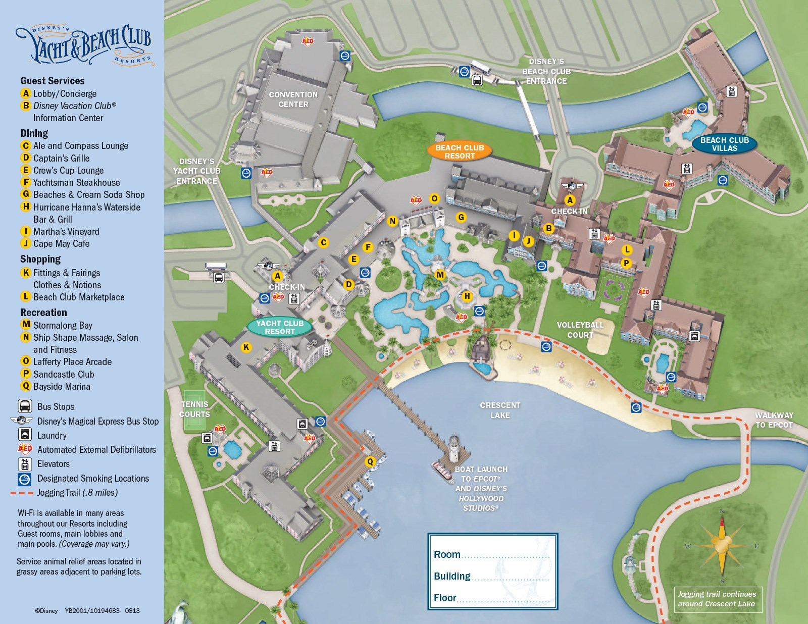 2013 Yacht Club guide map