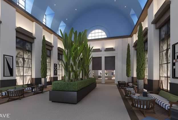 New look Walt Disney World Dolphin lobby concept art