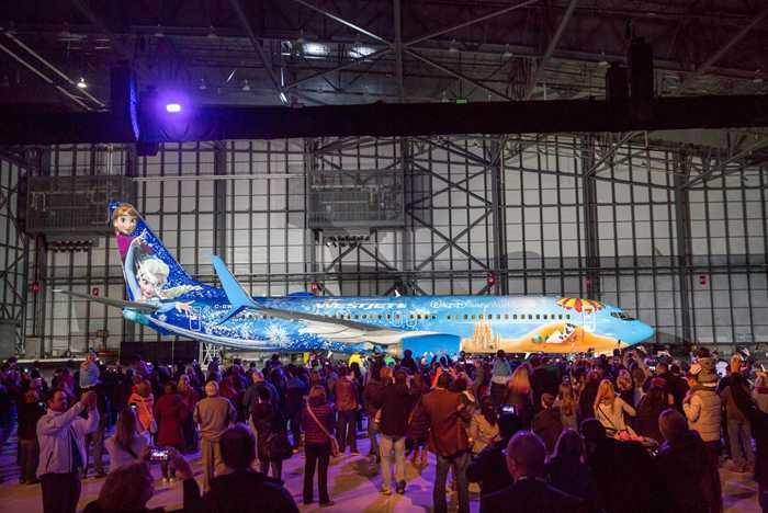 WestJet Frozen Plane