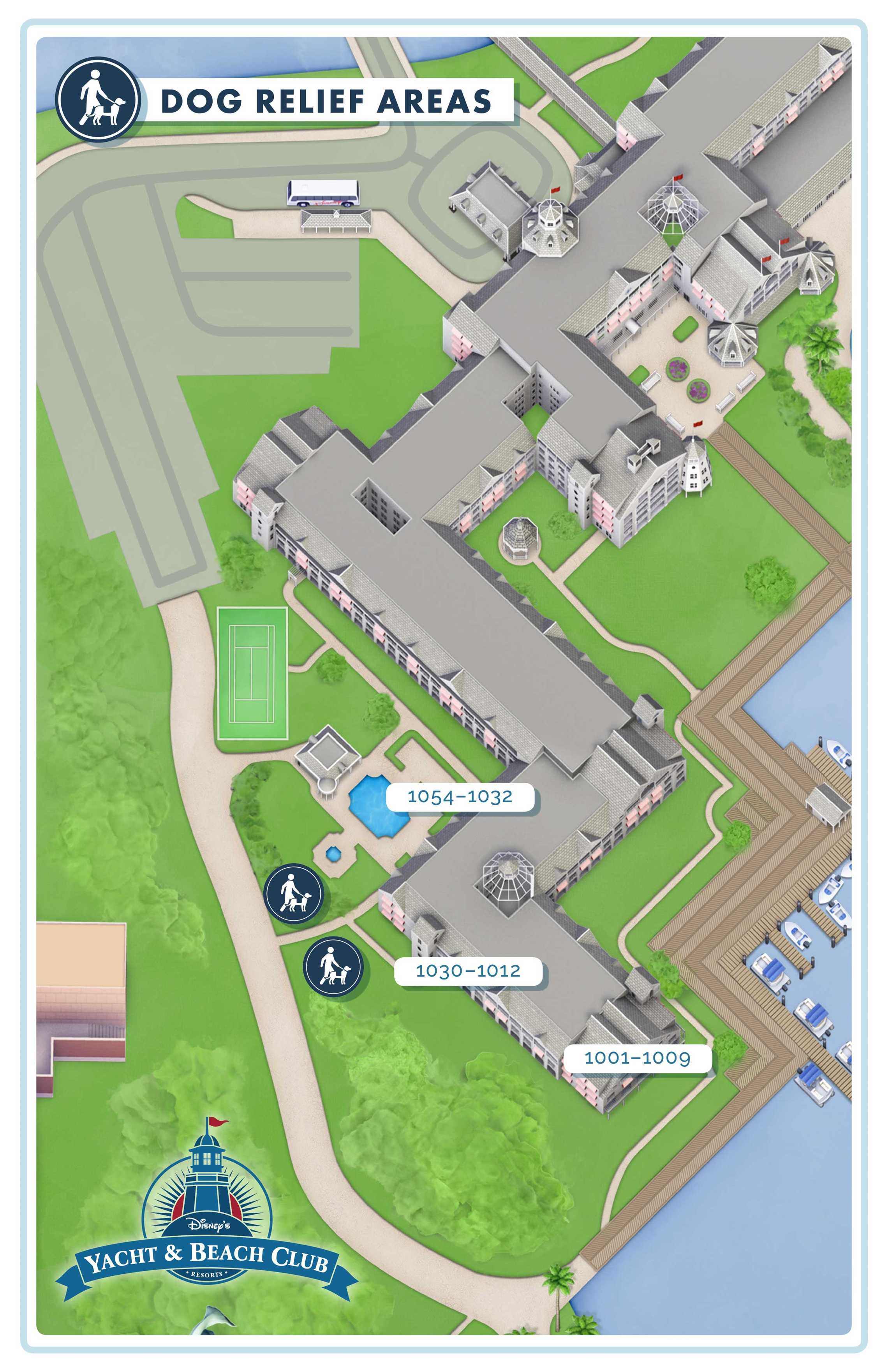 Dog Relief Areas at Yacht Club Resort