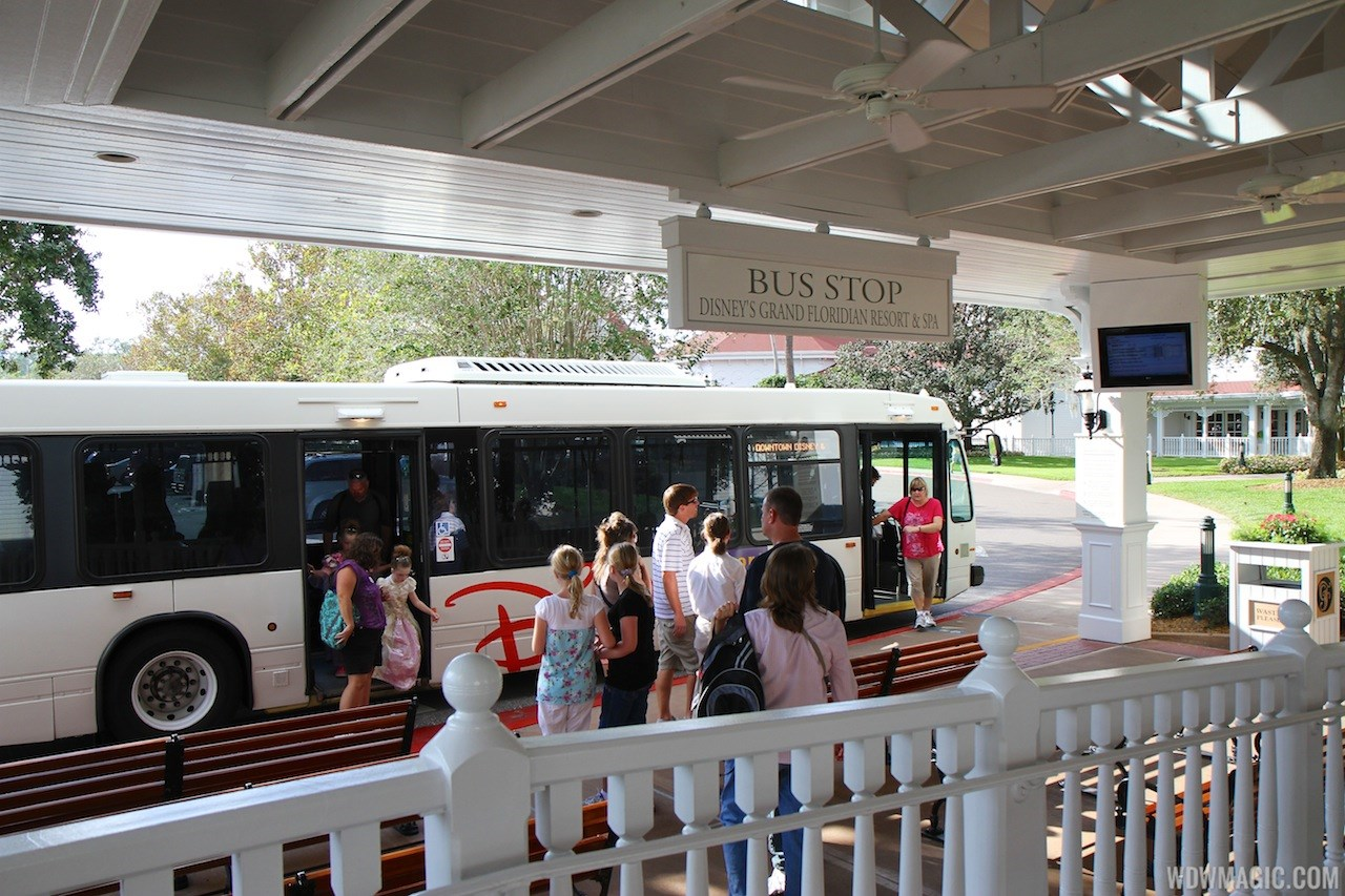 Transportation schedule screen at Disney's Grand Floridian Resort