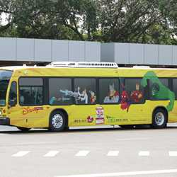 Disney Channel bus wrap
