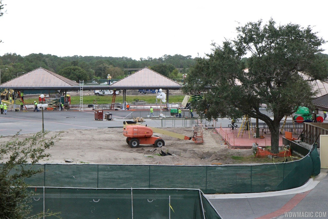 Magic Kingdom bus stop expansion construction