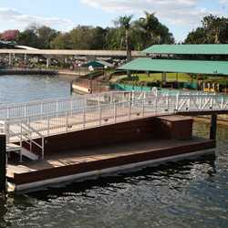Second Ferry boat dock construction at the Magic Kingdom