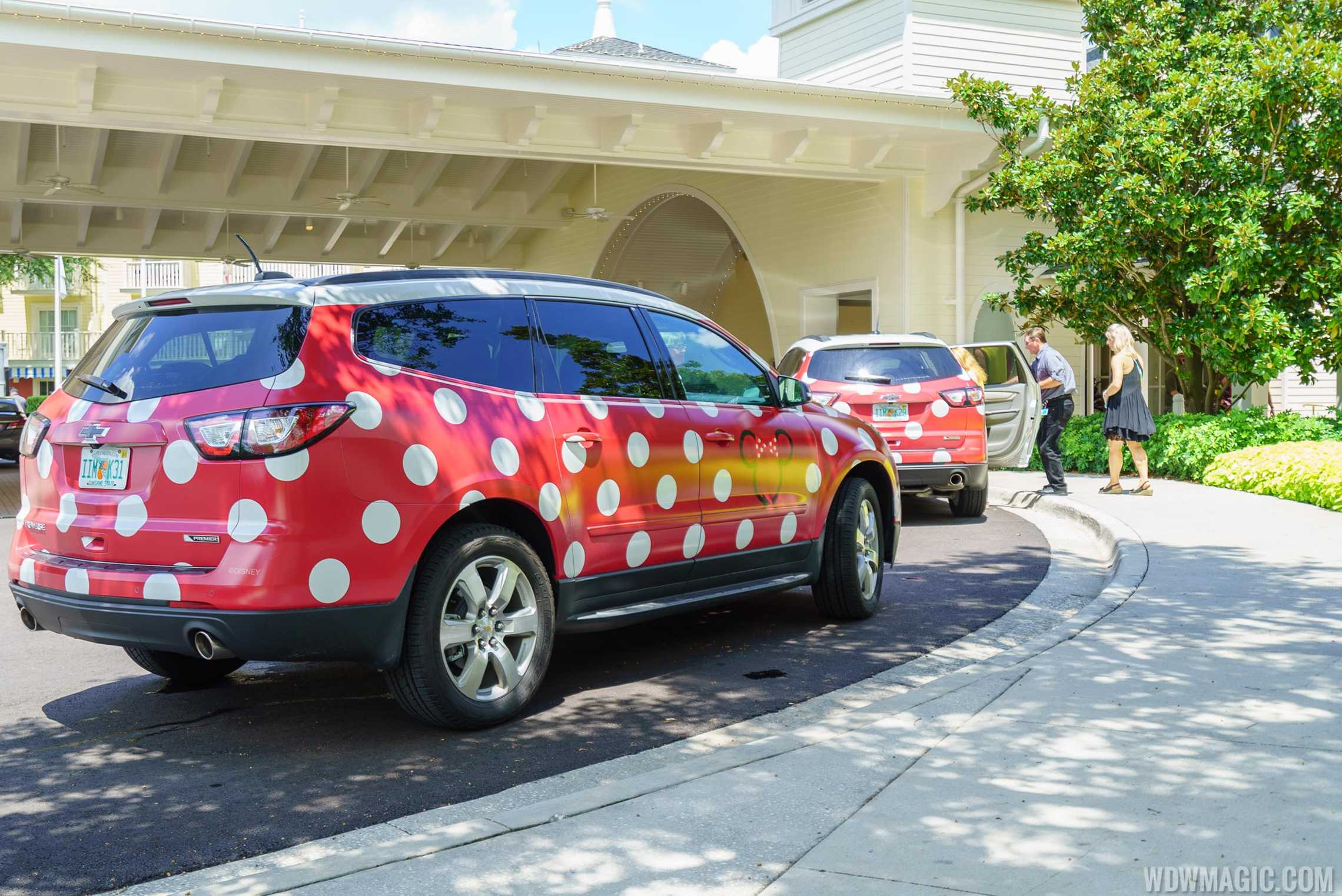 Minnie Vans at Disney's BoardWalk Resort