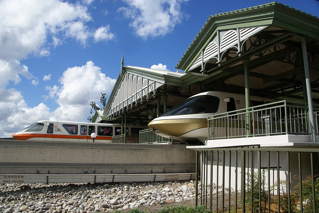 Monorail Station - Magic Kingdom
