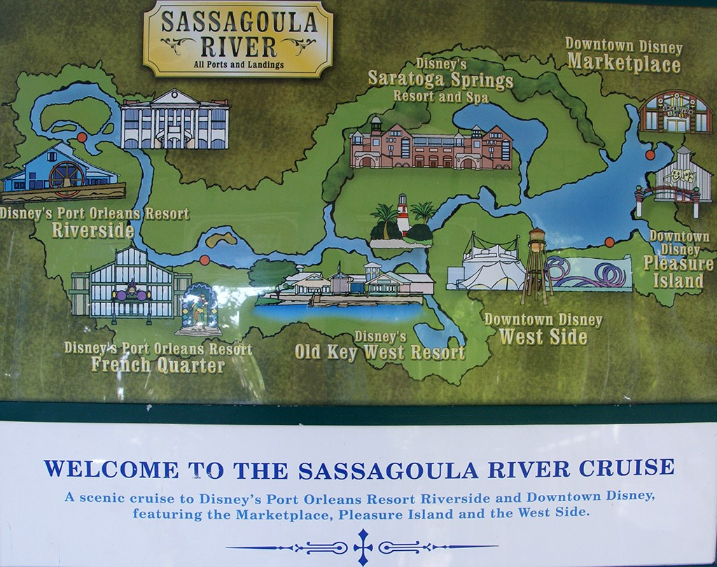 Sassagoula River Cruise map