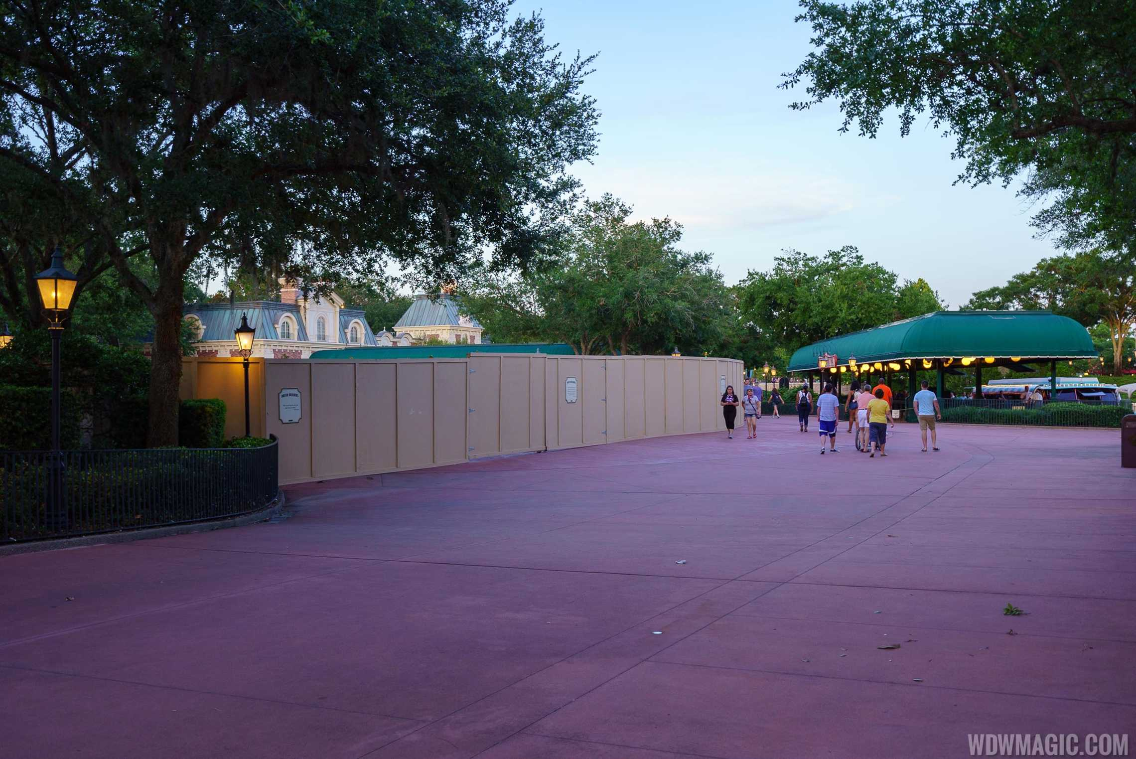 Disney Skyliner construction at Epcot