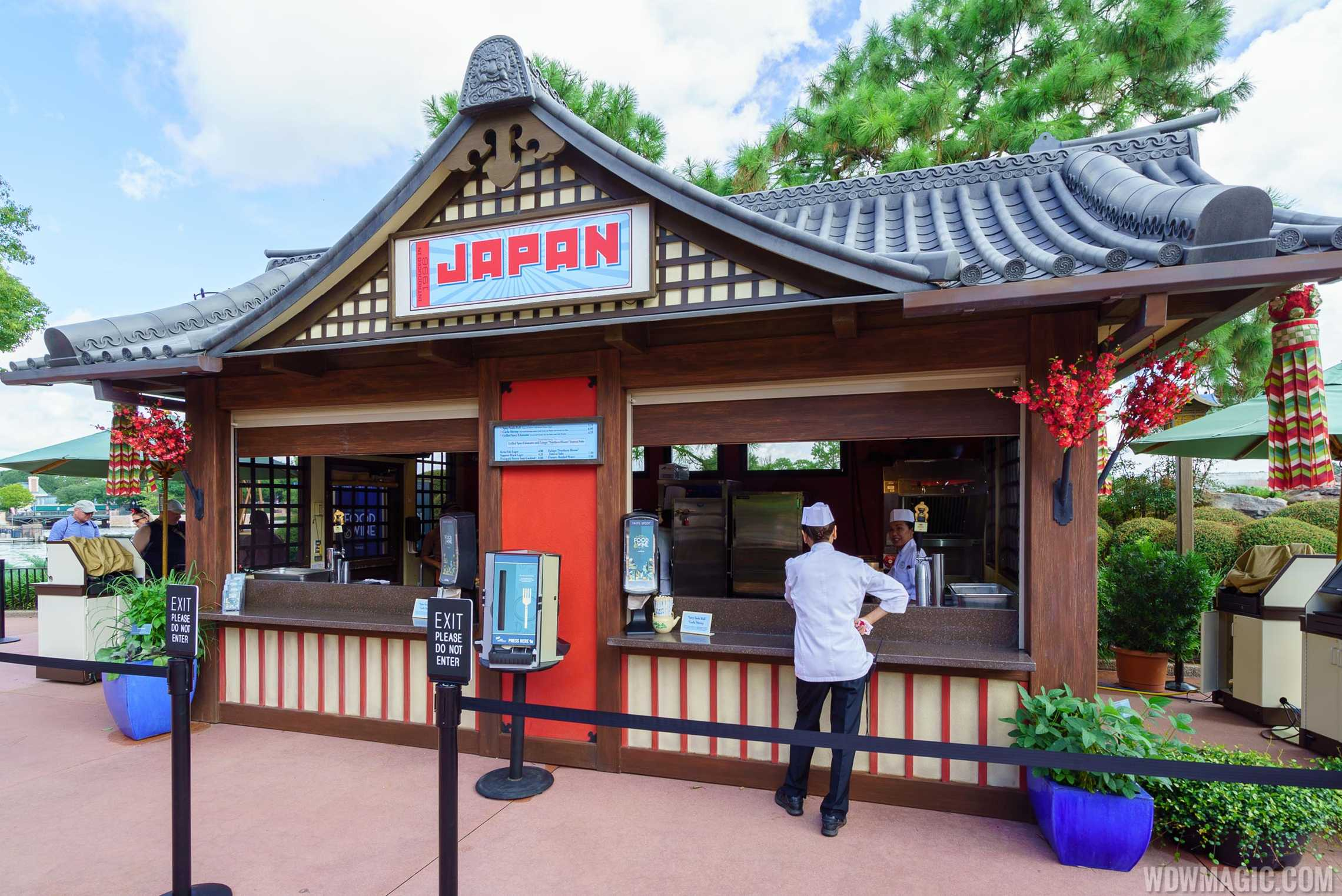 Food and Wine Marketplace kiosk at the Japan Pavilion